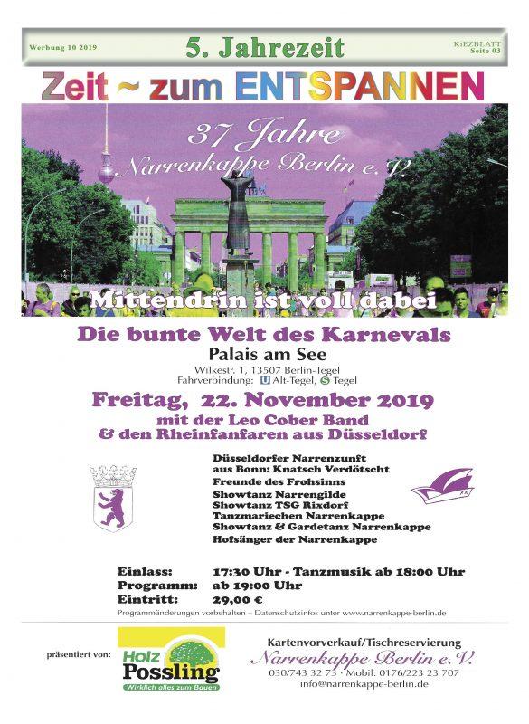 Lachmuskel & Tanzbein WiLLKOMMEN @ Palais am See