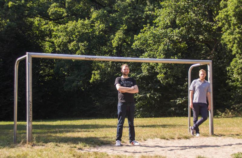 Fußballfeld im Steinbergpark Wohlert