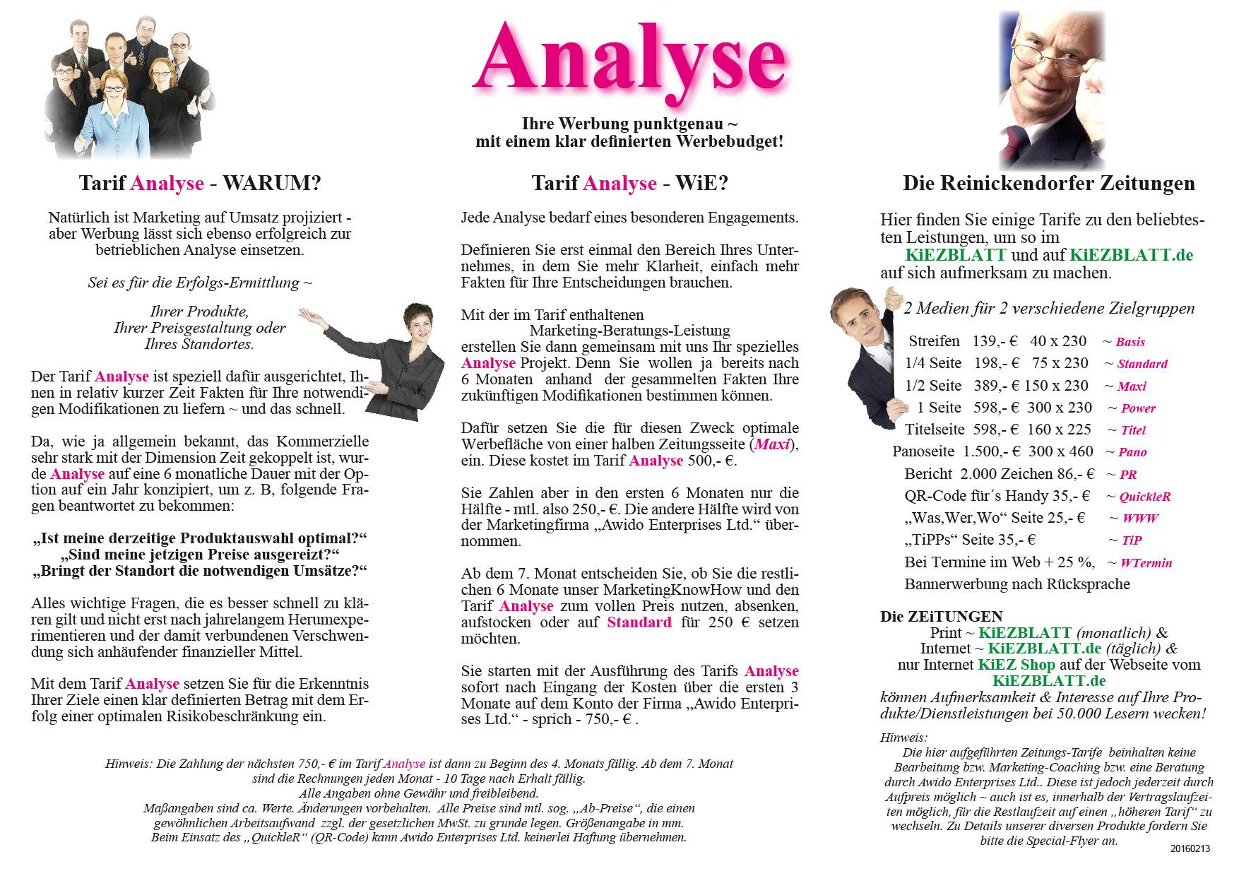 Flyer Werbung A 4 Analyse