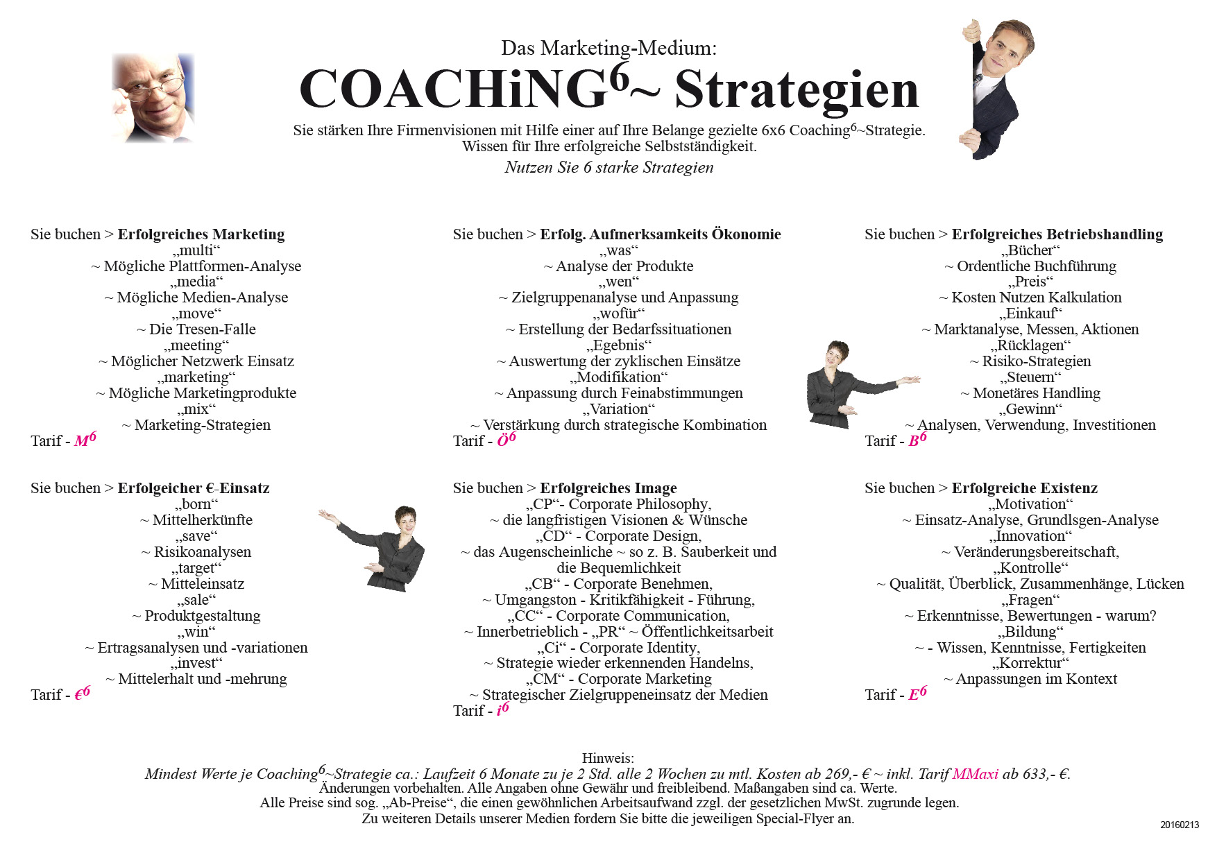 Flyer Werbung A 4 Coaching