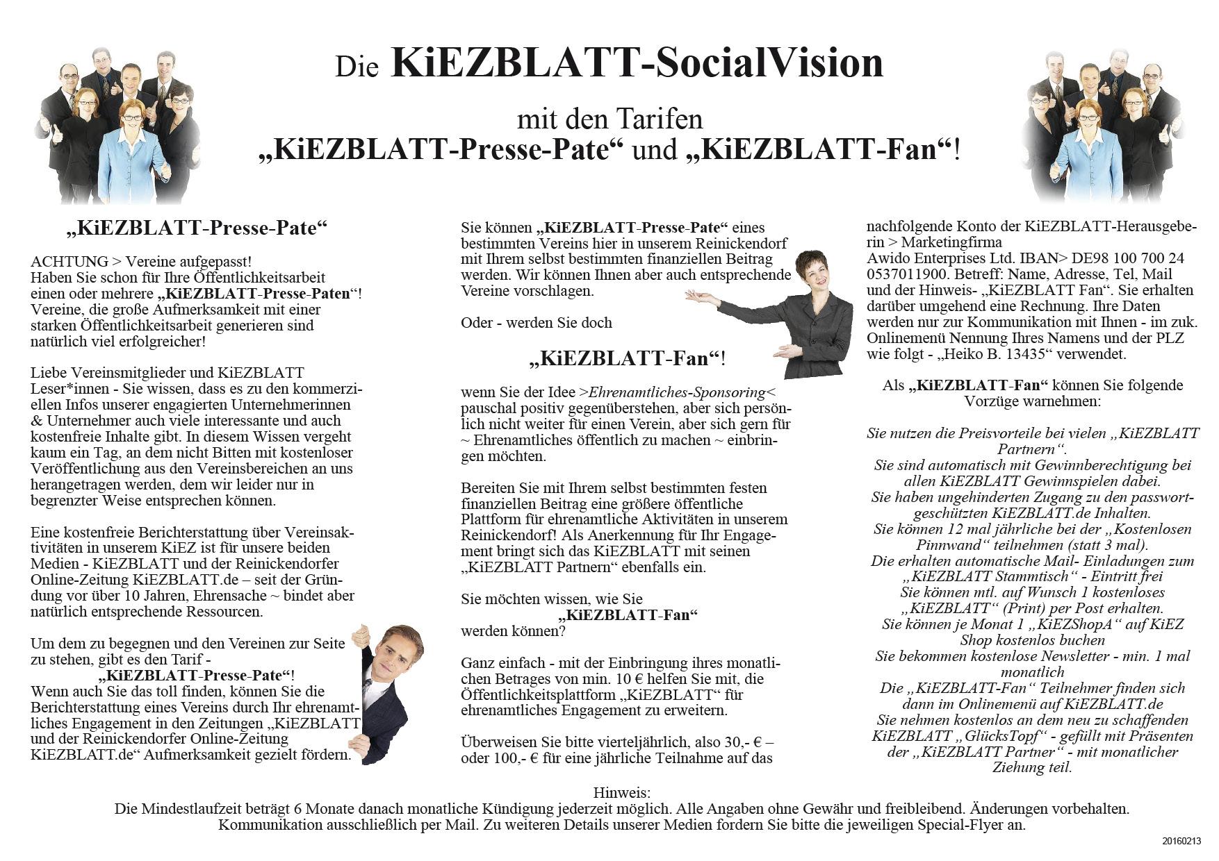 Flyer Werbung A 4 SocialVision
