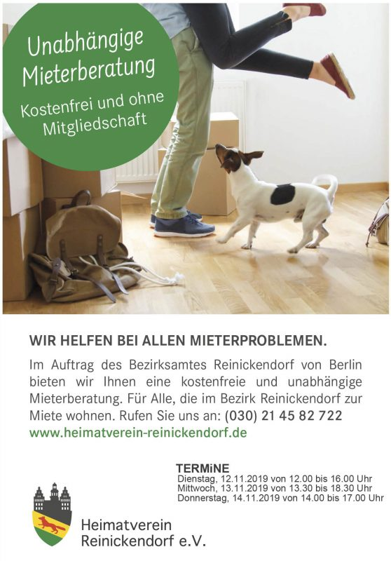 MiETERBERATUNG @ Heimatverein Reinickendorf e.V.
